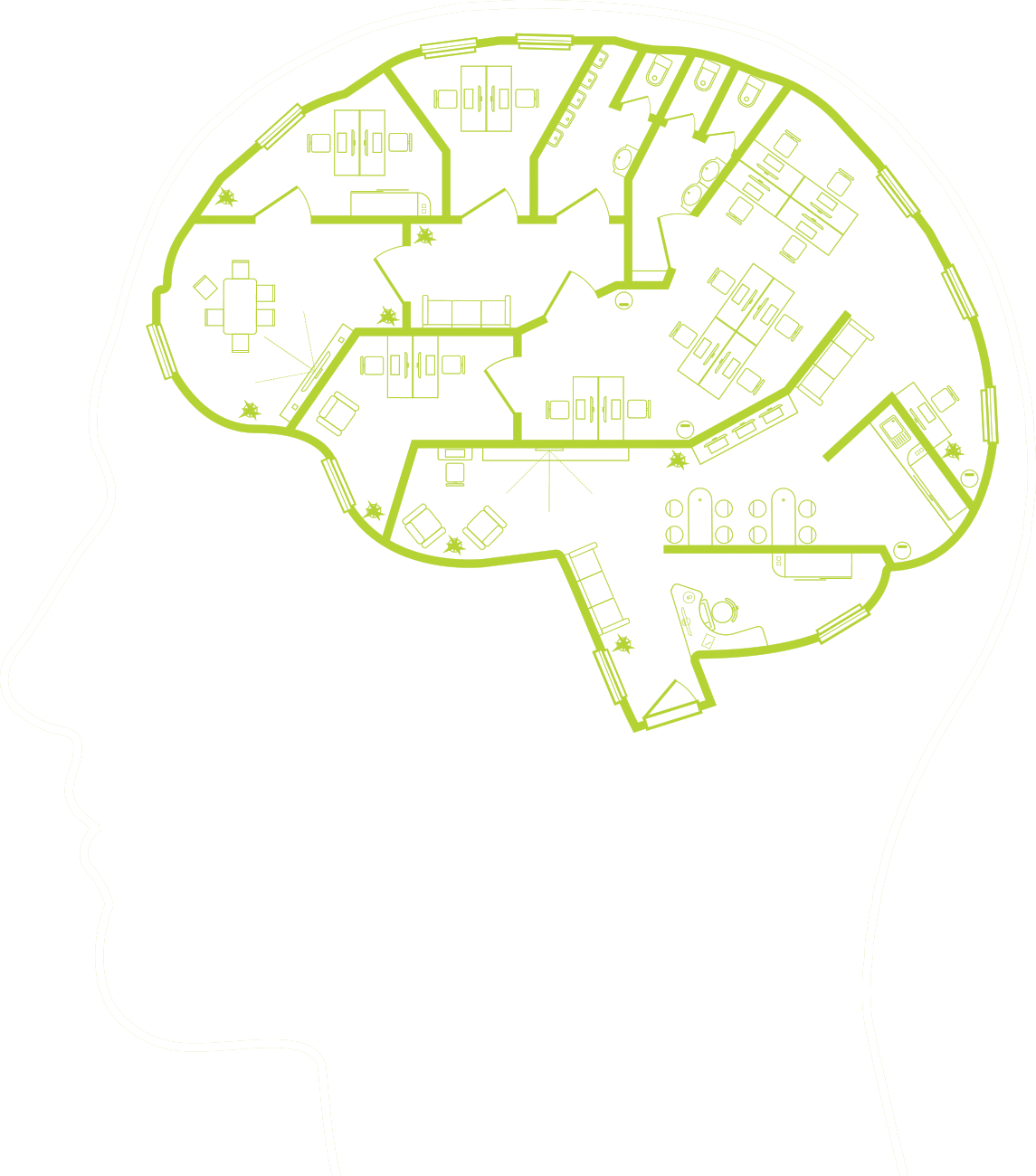Insights hover image - green brain